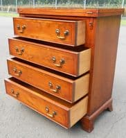 SOLD - Small Yew Bachelor Chest of Drawers by Bradley